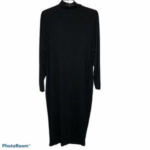 ASOS Curve 18 Black Knit Stretch Dress Cutout
